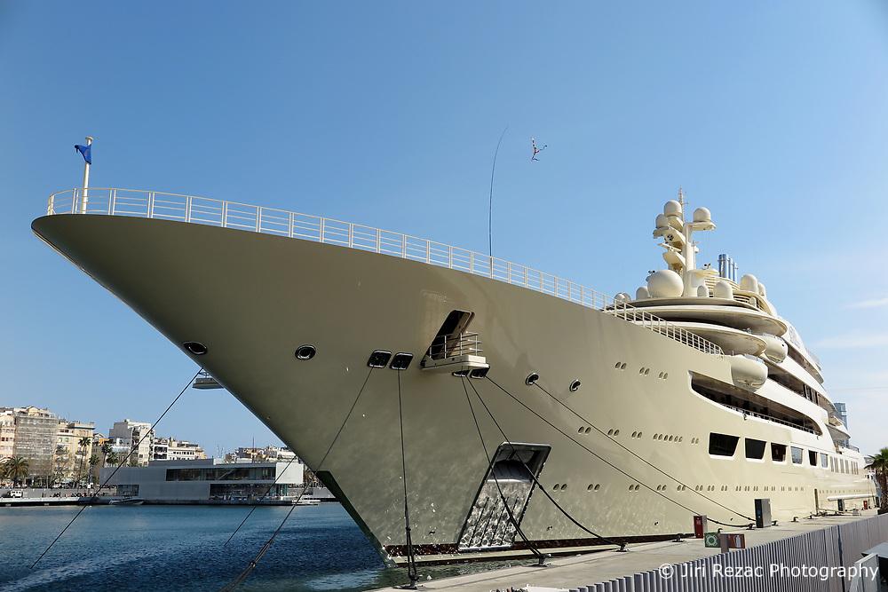 SPAIN CATALONIA BARCELONA 13MAR17 - Superyacht Dilmar in the port of Barcelona.<br /> <br /> jre/Photo by Jiri Rezac<br /> <br /> © Jiri Rezac 2017