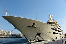SPAIN CATALONIA BARCELONA 13MAR17 - Superyacht Dilmar in the port of Barcelona.<br /> <br /> jre/Photo by Jiri Rezac<br /> <br /> &copy; Jiri Rezac 2017