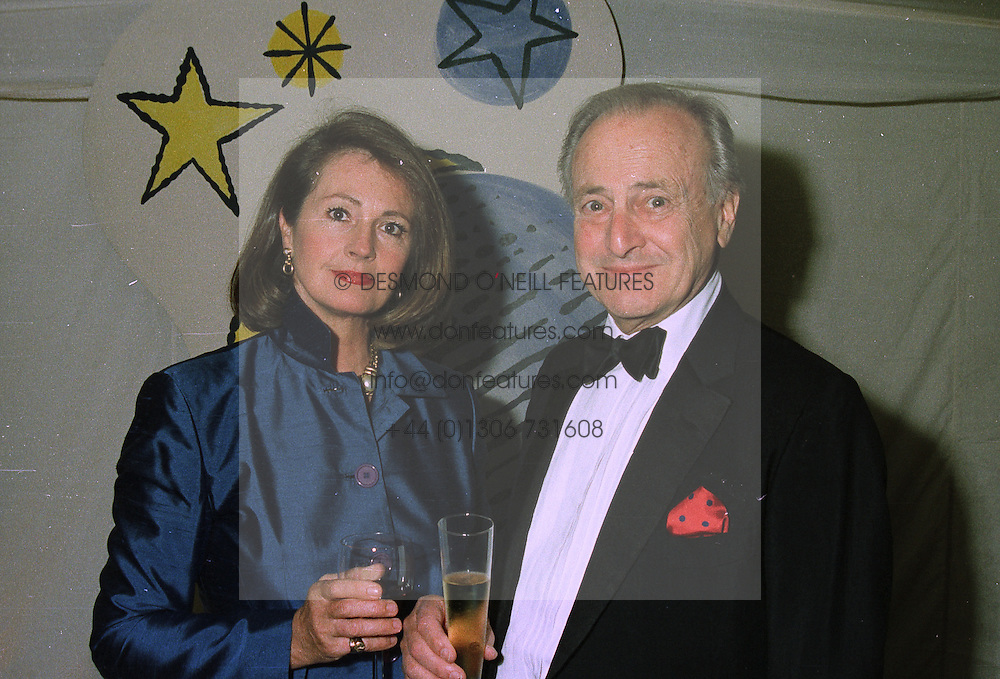 MR & MRS DAVID JACOBS, he is the veteran broadcaster, at a ball in London on 24th September 1997.MBM 12