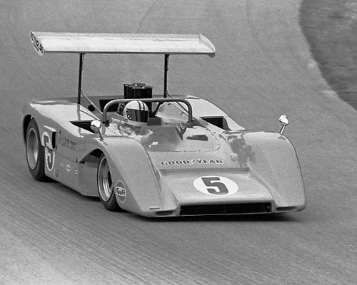 McLaren M8Bs at 1969 Elkhart Lake Can-Am; PHOTO BY Pete Lyons 1969 / © 2014 Pete Lyons/www.petelyons.com