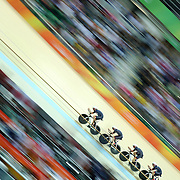 Track Cycling - Olympics: Day 6  The Great Britain team of Edward Clancy, Steven Burke, Owain Doull and Bradley Wiggins winning the gold medal in world record time during the Men's Team Pursuit race during the track cycling competition at the Rio Olympic Velodrome August 12, 2016 in Rio de Janeiro, Brazil. (Photo by Tim Clayton/Corbis via Getty Images)