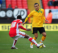 London - Saturday, January 3rd, 2009: Lloyd Sam of Charlton Athletic and Ryan Bertrand of Norwich City during the FA Cup Third Round match at The Valley, London. (Pic by Alex Broadway/Focus Images)
