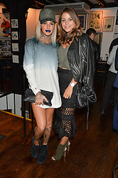 Left to right, JEMMA LUCY and CHLOE LEWIS at a party hosted by Fred Sirieix, Maître d' on Channel 4's 'First Dates' at his favourite Spanish restaurant, El Pirata, 5-6 Down Street, London to celebrate the publication of his new book 'First Dates: The Art of Love' on 10th October 2016.