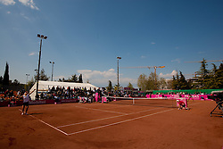 Court during the first day of the tennis Fed Cup match between Slovenia and Canada at Bonifika, on April 16, 2011 in Koper, Slovenia.  (Photo by Vid Ponikvar / Sportida)