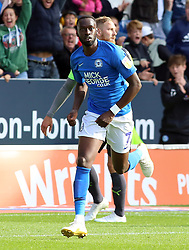 Mohamed Eisa of Peterborough United celebrates scoring his first goal of the game to make it 2-0 - Mandatory by-line: Joe Dent/JMP - 28/09/2019 - FOOTBALL - Weston Homes Stadium - Peterborough, England - Peterborough United v AFC Wimbledon - Sky Bet League One