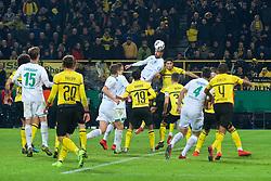 05.02.2019, Signal Iduna Park, Dortmund, GER, DFB Pokal, Borussia Dortmund vs SV Werder Bremen, Achtelfinale, im Bild Martin Harnik (SV Werder Bremen #9) trifft per Kopf zum 3:3 // during the German Pokal round of 16 match between Borussia Dortmund and SV Werder Bremen at the Signal Iduna Park in Dortmund, Germany on 2019/02/05. EXPA Pictures © 2019, PhotoCredit: EXPA/ Andreas Gumz<br /> <br /> *****ATTENTION - OUT of GER*****
