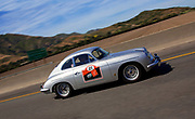 Image of Dick Cupp and Steve Schmidt driving toward a cure in Dick's 1960 Porsche 356 B Super 90 in Camarillo, California during Drive Toward a Cure for Parkinson's Research