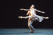 Sadler's Wells Theatre, London presents an evening of works by three choreographers: Edwaard Liang, Russell Maliphant & Christopher Wheeldon. Featuring Chinese prima ballerina Yuan Yuan Tan and Taiwanese virtuoso Fang-Yi Sheu, and San Francisco principal dancer Damian Smith. Picture shows Yuan Yuan Tan & Damian Smith in Finding Light by Edwaard Liang.