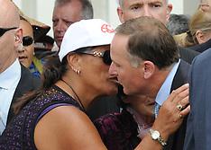 Waitangi-Prime Minister John Key welcomed onto Te Tii Marae, 2014