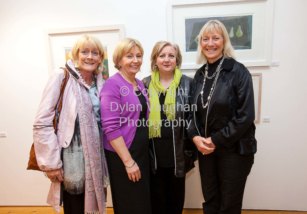24/10/2008.'Pictured at the opening of the Autumn Feast at the Kilkenny Design Centre a show by Irish craftspeople and artists of work that celebrates the joy of food were from left Gemma McGirr, Kathleen Moran, Anna O'Sullivan and Jane O'Malley..Picture Dylan Vaughan..