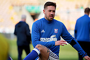Ipswich Town defender Luke Chambers (4) warming up before the EFL Sky Bet Championship match between Norwich City and Ipswich Town at Carrow Road, Norwich, England on 18 February 2018. Picture by Nigel Cole.