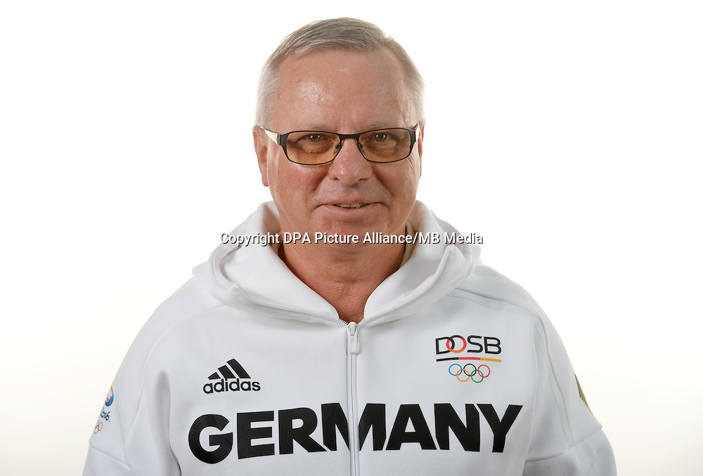 Jan Kretzschmar Hoffmann poses at a photocall during the preparations for the Olympic Games in Rio at the Emmich Cambrai Barracks in Hanover, Germany. July 07, 2016. Photo credit: Frank May/ picture alliance. | usage worldwide