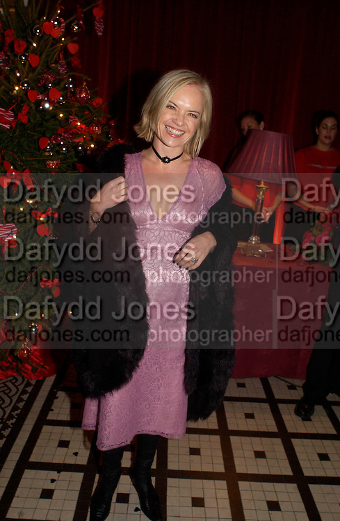 Mariella Frostrop, 'Love Actually after premiere party. the Old In and Out club, Piccadilly, 16 November 2003. © Copyright Photograph by Dafydd Jones 66 Stockwell Park Rd. London SW9 0DA Tel 020 7733 0108 www.dafjones.com