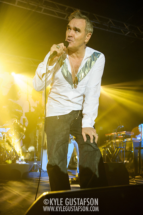 "Morrissey performs at Echostage in Washington, D.C. as part of his ""World Peace Is None of Your Business"" tour. (Photo by Kyle Gustafson)"