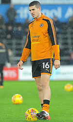 Conor Coady of Wolverhampton Wanderers warms up -Mandatory by-line: Nizaam Jones/JMP- 17/01/2018 - FOOTBALL - Liberty Stadium- Swansea, Wales - Swansea City v Wolverhampton Wanderers - Emirates FA Cup third round proper