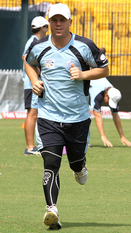 A Player during the NSW Blues practice session held at the M. A. Chidambaram Stadium in Chennai , Tamil Nadu, India on the 27th September 2011..Photo by Prashant Bhoot/BCCI/SPORTZPICS