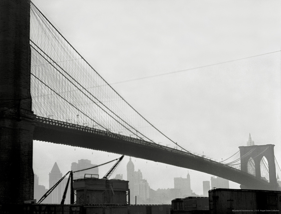 Span of the Brooklyn Bridge, New York, 1921