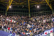 Tottenham Hotspur fans ahead of the Champions League round of 16, leg 2 of 2 match between Borussia Dortmund and Tottenham Hotspur at Signal Iduna Park, Dortmund, Germany on 5 March 2019.