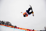 PYEONGCHANG-GUN, SOUTH KOREA - FEBRUARY 14: Ayumu Hirano of Japan during the Mens Snowboard Halfpipe competition at Phoenix Snow Park on February 14, 2018 in Pyeongchang-gun, South Korea. Photo by Nils Petter Nilsson/Ombrello               ***BETALBILD***