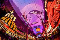 Fremont Street Experience, Downtown Las Vegas, Nevada USA.