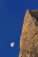 Møns Klint - chalk cliffs with moon, Denmark