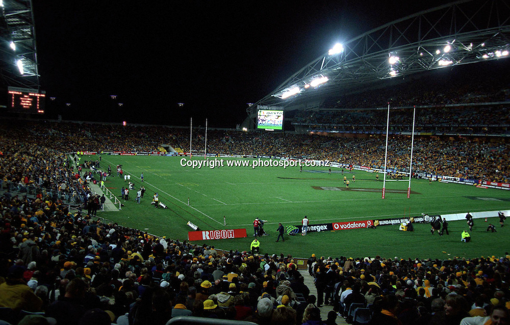 03 August 2002, Rugby Union, Australia vs All Blacks, Stadium Australia, Sydney, Australia.<br />Stadium Australia<br />Please credit: Photosport