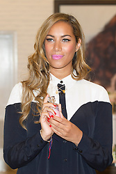 © Licensed to London News Pictures. 27/03/2013. London, UK. X-Factor singer Leona Lewis is seen in The Body Shop at the Westfield Shopping Centre in London today (27/03/2013) after the announcement that she is now the 'brand activist' for the cosmetics company.  As the brand activist she will help The Body Shop and NGO 'Cruelty Free International' in their joint, global campaign to end animal testing for cosmetics. Photo credit: Matt Cetti-Roberts/LNP