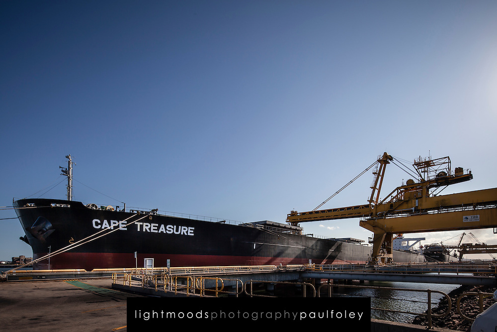 Loading Coal Ship at Newcastle, NSW, Australia