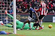 Castel Pantilimon of Nottingham Forest (1) makes a save during the EFL Sky Bet Championship match between Sheffield United and Nottingham Forest at Bramall Lane, Sheffield, England on 17 March 2018. Picture by Mick Haynes.