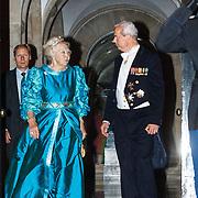 NLD/Amsterdam/20150624- Galadiner voor het Corps Diplomatique Koninklijk Paleis Amsterdam, vertrek prinses Beatrix