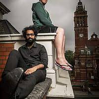 LONDON UK. 19th June 2014.<br /> Illustrators Sajan Rai and Daniel de Sosa, shot in East London. They both met at university and founded the Backwards Burd artists collective, which they have now developed into an independent publishing business.<br /> Photo credit : ANDREW BAKER<br /> 07977074356
