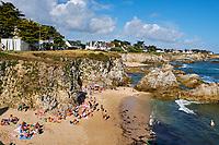 France, Loire-Atlantique (44), Presqu'île de Guérande, la côte sauvage entre Batz et le Pouliguen // France, Loire-Atlantique, wild coast between Batz and le Pouliguen
