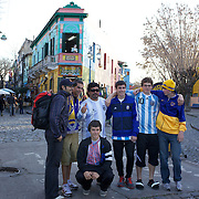 Diego Maradona look a like Escolastico Berto Mendez makes money having his photograph taken with tourists in the famous La Boca region of Buenos Aires, near the Boca Juniors football stadium, La Bombonera, He once appeared with Maradona on the famous footballers TV show on Argentinian television. Buenos Aires, Argentina, 25th June 2010. Photo Tim Clayton..