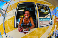 Waitress, The Supper Truck (food truck), Albuquerque, New Mexico USA