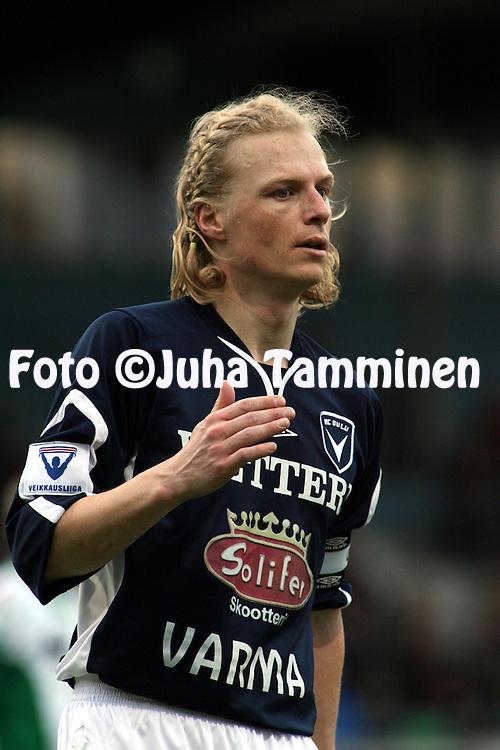 09.05.2007, Arto Tolsa Areena, Kotka, Finland..Veikkausliiga 2007 - Finnish League 2007.FC KooTeePee - AC Oulu.Janne Hietanen - AC Oulu.©Juha Tamminen.....ARK:k