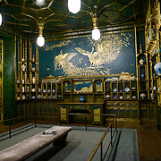 Freer Gallery of Art Peacock Room Wide Shot. Originally part of a London dining room and redecorated by American expatriat artist James McNeill Whistler, the Peack Room has been reinstalled as a room in the Freer Gallery of Art. The Freer Gallery of Art, on Washington DC's National Mall, joined the Arthur M. Sackler Gallery to form the Smithsonian Institution's Asian art gallery. The Freer Gallery contains a sizeable collection of Asian art, but also has a major collection of works by James McNeill Whistler.