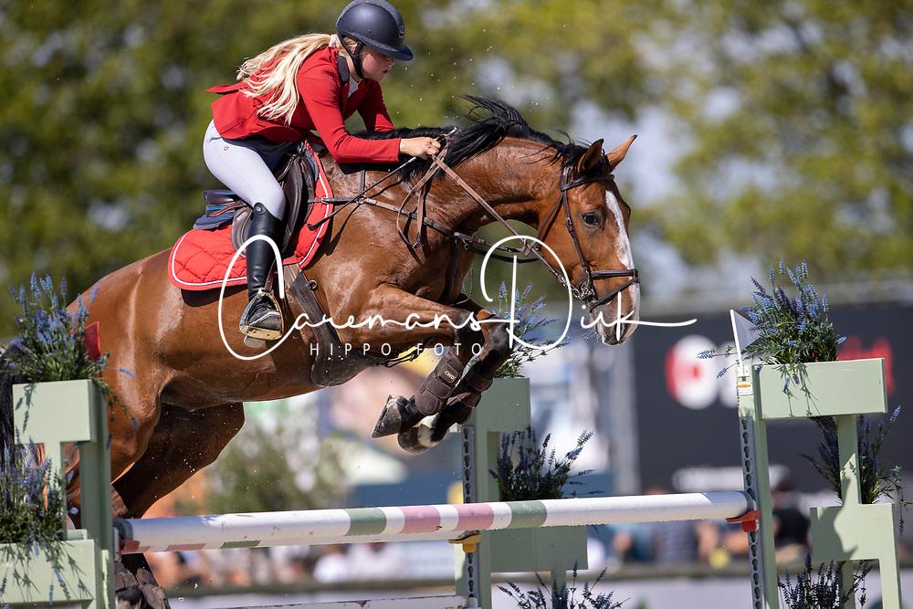 De Breucker Anke, BEL, Jargo van de Dornehoeve<br /> Belgisch Kampioenschap Jeugd Azelhof - Lier 2020<br /> © Hippo Foto - Dirk Caremans<br /> 30/07/2020