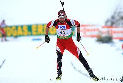 Daniel Mesotitsch (AUT) at Men 20 km Individual at E.ON Ruhrgas IBU World Cup Biathlon in Hochfilzen (replacement Pokljuka), on December 18, 2008, in Hochfilzen, Austria. (Photo by Vid Ponikvar / Sportida)