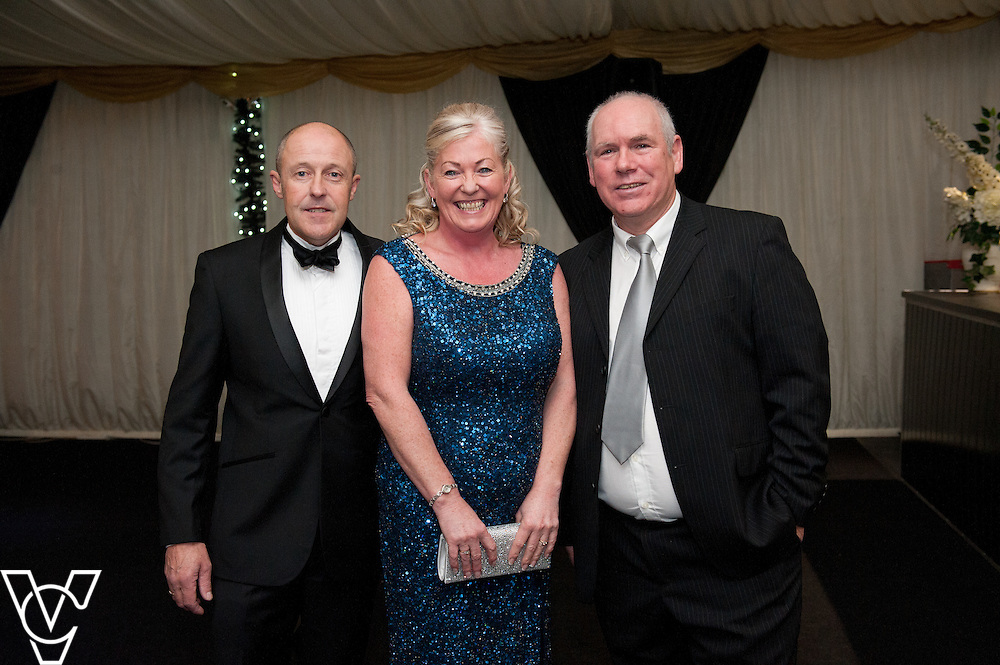 Lincoln Journal society pictures: Pictured, from left, Pete Walters, Lainy Woosey and Andy Green<br /> <br /> An annual ball, this year themed the Bauble Ball, has taken place at Jocastas, to raise money for the Lincoln St Christopher's School.<br /> <br /> Date: November 28, 2015<br /> Picture: Chris Vaughan/Chris Vaughan Photography