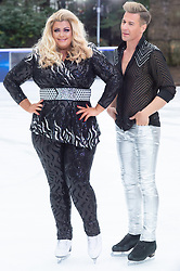 © Licensed to London News Pictures. 18/12/2018. London, UK. Gemma Collins and Matt Evers attends a photocall for the launch of ITV's Dancing On Ice new series. Photo credit: Ray Tang/LNP
