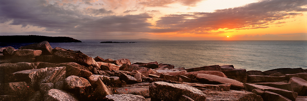 Acadia National Park in Maine is the first national park to greet the sunrise.
