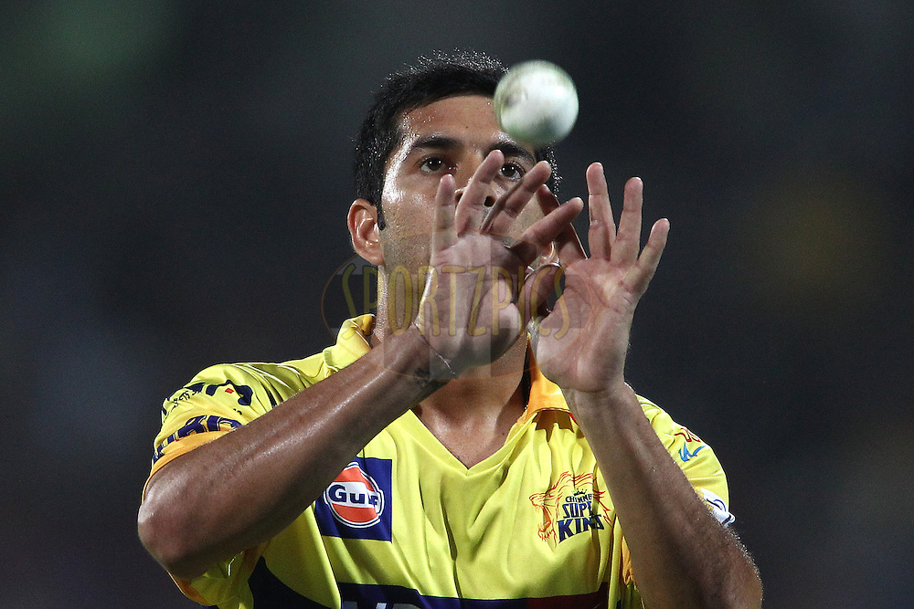 Mohit Sharma of The Chennai Super Kings during match 26 of the Pepsi Indian Premier League Season 2014 between the Delhi Daredevils and the Chennai Super Kings held at the Feroze Shah Kotla cricket stadium, Delhi, India on the 5th May  2014<br /> <br /> Photo by Shaun Roy / IPL / SPORTZPICS<br /> <br /> <br /> <br /> Image use subject to terms and conditions which can be found here:  http://sportzpics.photoshelter.com/gallery/Pepsi-IPL-Image-terms-and-conditions/G00004VW1IVJ.gB0/C0000TScjhBM6ikg
