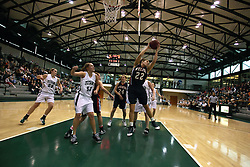 10 January 2009: Annie Bowen gets free underneath for a defensive reboune. The Lady Titans of Illinois Wesleyan University downed the and Lady Thunder of Wheaton College by a score of 101 - 57 in the Shirk Center on the Illinois Wesleyan Campus in Bloomington Illinois.