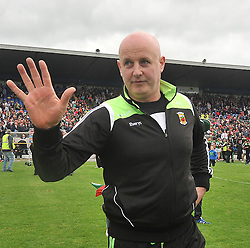 Joint Mayo Manager Pat Holmes salutes the Five in a Row Connacht Senior football Championships. <br /> Pic Conor McKeown