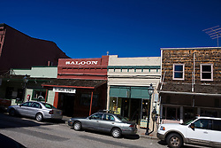 Saloon and shops, Nevada City, California, United States of America