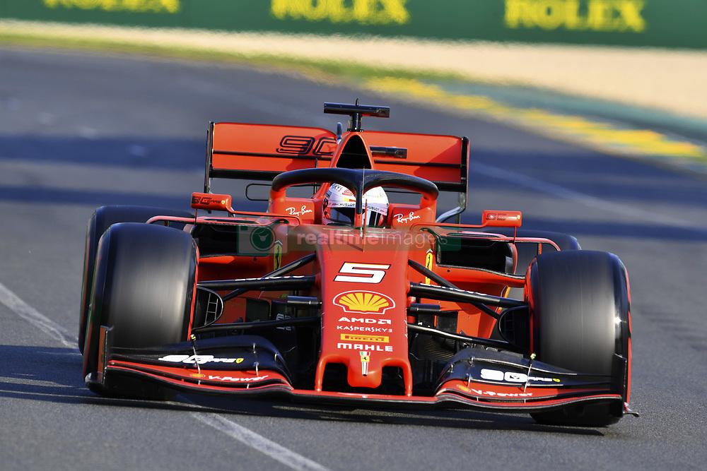 March 16, 2019 - Melbourne, Australia - Motorsports: FIA Formula One World Championship 2019, Grand Prix of Australia, ..#5 Sebastian Vettel (GER, Scuderia Ferrari Mission Winnow) (Credit Image: © Hoch Zwei via ZUMA Wire)