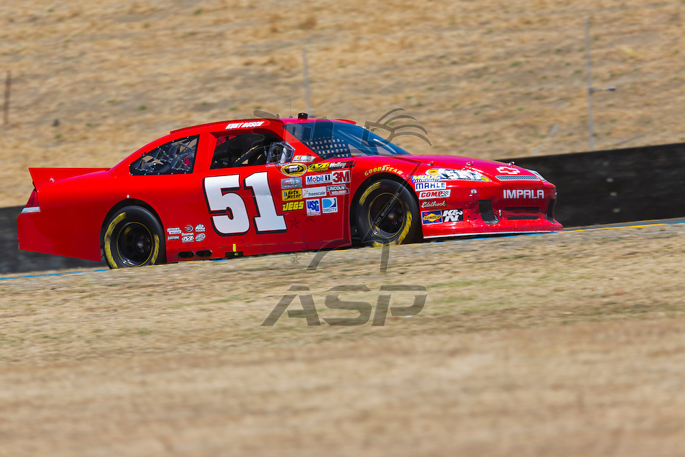 SONOMA, CA - JUN 24, 2012:  Kurt Busch (51) brings his car through the turns during the Toyota Save Mart 350 at the Raceway at Sonoma in Sonoma, CA.