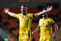Ollie Clarke of Bristol Rovers celebrates his second goal. - Mandatory by-line: Alex James/JMP - 03/11/2018 - FOOTBALL - Bloomfield Road - Blackpool, England - Blackpool v Bristol Rovers - Sky Bet League One