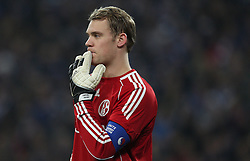 Manuel Neuer of Schalke during the UEFA Champions League round of 16 second leg match between Schalke 04 and Valencia at Veltins Arena on March 9, 2011 in Gelsenkirchen, Germany.