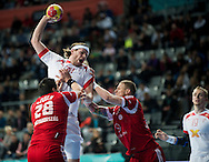 Spain - Barcelona..23/01/13.Handball World Cup quarter final:  Denmark - Hungary 28-26...Photo: Johnny Wichmann / billedbyroet